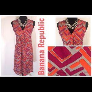 Banana Rep. -Sleeveless Gray, Berry, Orange dress